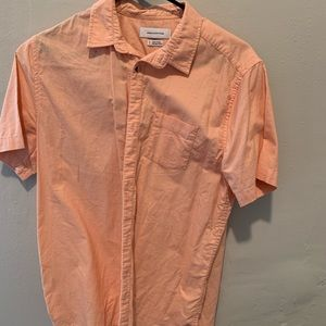 Peach men's button up